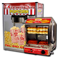 pop corn and hot dog machine hire